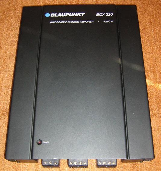 Руководство пользователя усилитель Blaupunkt BQX 320