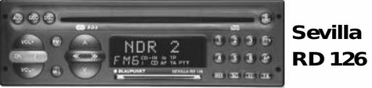 Справочник для пользователя автомобильный тюнер с проигрывателем компакт-дисков Blaupunkt SEVILLA RD 126