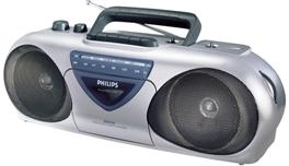 Инструкция по эксплуатации кассетный магнитофон-радиоприемник  Philips AQ 5150 Stereo Radio Cassette Recorder.