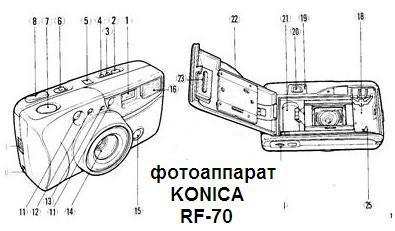 Руководство пользователя фотоаппарат KONICA RF-70