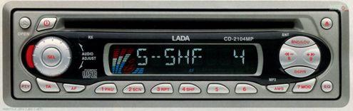 Руководство по эксплуатации автомобильный CD/MP3 ресивер Lada CD-2004MP.