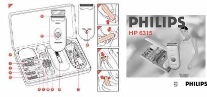 Инструкция пользователя электробритва PHILIPS HP 6315