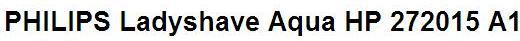 Инструкция пользователя электробритва PHILIPS Ladyshave Aqua HP 2720/15 A1
