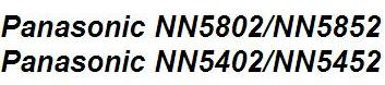 Руководство по использованию микроволновая печь Panasonic NN5802/NN5852 и Panasonic NN5402/NN5452