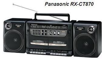 Руководство по эксплуатации портативная переносная стереосистема Panasonic RX-CT870