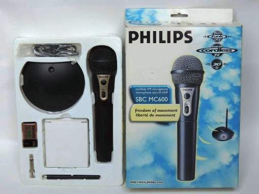 Инструкция по эксплуатации микрофон RF/FM PHILIPS SBC MC600