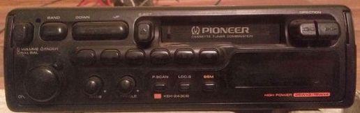 автомобильная кассетная магнитола с электронным тюнером диапазонов УКВ (FM)/СВ/ДВ Pioneer KEH-2430B