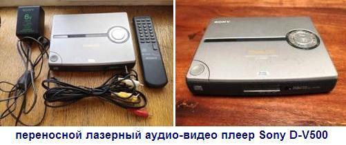 инструкция пользователя переносной лазерный аудио-видео плеер Sony D-V500
